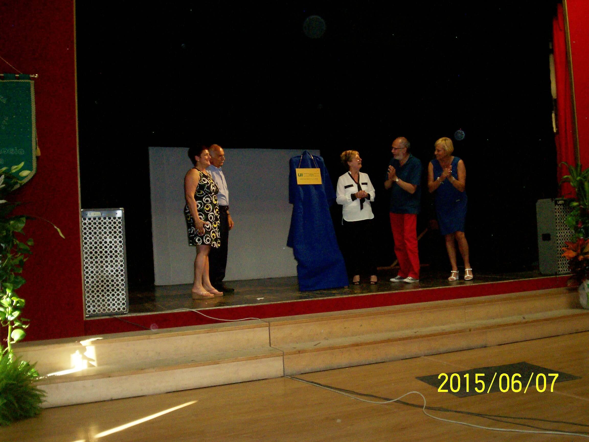 Giugno 2015- presentazione della targa UNITRE